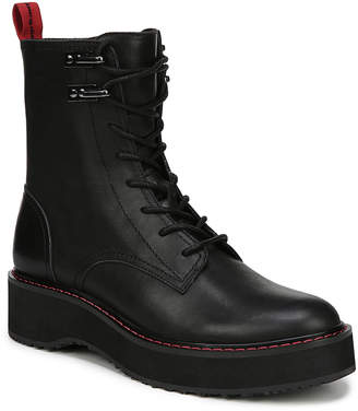 Diane von Furstenberg Lace-Up Leather Combat Boots