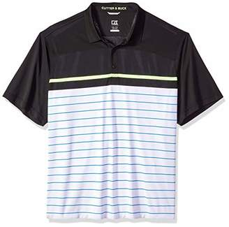 Cutter & Buck Men's Moisture Wicking Drytec Ruston Stripe Panel Polo Shirt
