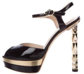 Julia Haart Patent Platform Sandals