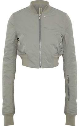 Rick Owens Cropped Cotton-Blend Faille Bomber Jacket