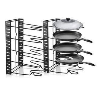 HURRISE Multi Tiers Pot Frying Pan Lid Storage Rack Organizer Kitchen Cookware Stand Holder