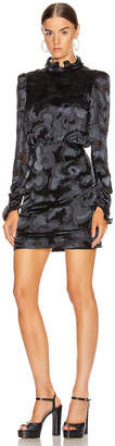 Saloni Rina B Dress in Black   FWRD