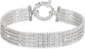 "Imperial Silver 7-1/4"" Wide Wheat Bracelet, Sterling 16.8g"