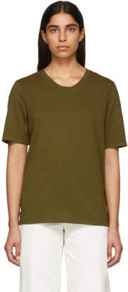 Raquel Allegra Green Sueded Baby Jersey T-Shirt