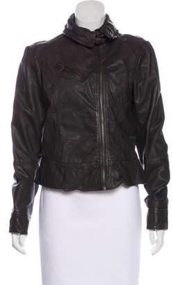 AllSaints Leather Belvedere Jacket