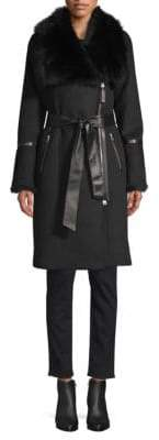 Mackage Nerea-NW Sheepskin Belted Wool Coat