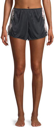 Josie Natori Harlow Lace-Trim Slinky Jersey Lounge Shorts