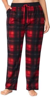 Cuddl Duds Plus Size Printed Fleece Pajama Pants
