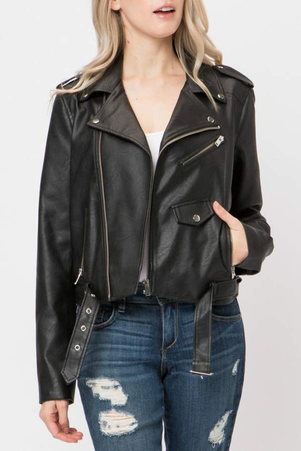 Vegan-Leather Motor-Jacket