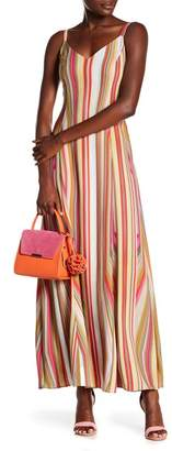 Rachel Roy Strappy Striped Maxi Dress