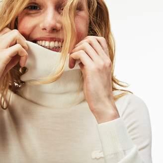 Lacoste Women's Turtleneck Wool Jersey Sweater
