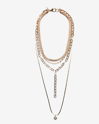 Express Nested Cubic Zirconia Layered Necklace