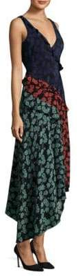 Saloni Aggie Silk Wrap Dress
