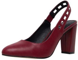 Diana Ferrari Ellah Deep Crimson Heeled Shoes