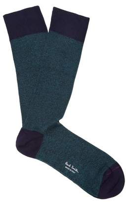 Paul Smith - Melange Stretch Cotton Socks - Mens - Green