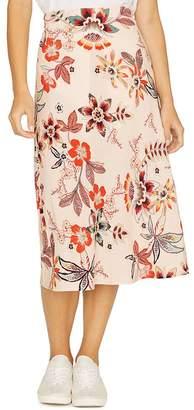 Sanctuary High-Waist Floral-Print Midi Skirt