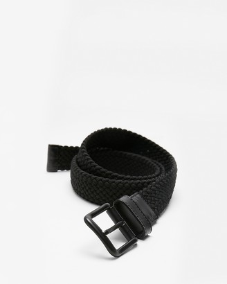 Express Black Web Stretch Belt