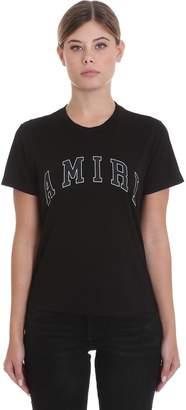 Amiri College T-shirt In Black Cotton