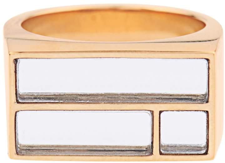 Aurelie BidermannAURÉLIE BIDERMANN Bianca yellow gold-plated mirror ring