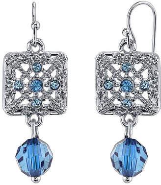 JCPenney 1928 Jewelry Blue Stone Filigree Drop Earrings