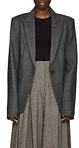 The Row Women's Naycene Wool-Blend One-Button Blazer - Grey Melange