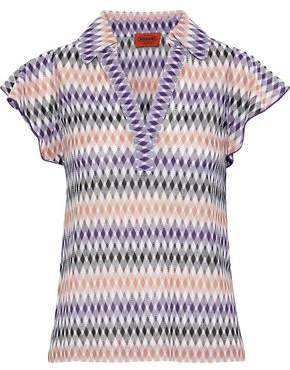 Missoni Crochet-Knit Polo Shirt