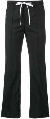 Miu Miu side striped cropped trousers