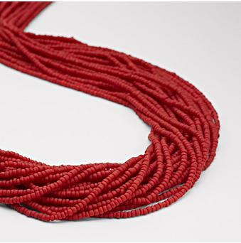 Seed Frost Red Necklace