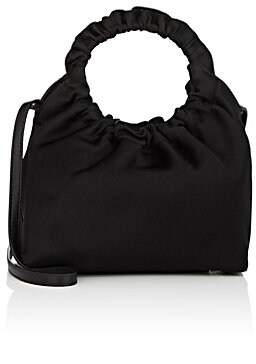 The Row Women's Double-Circle Small Silk Bag - Black