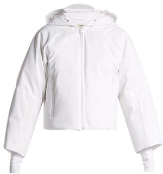 Fendi - Hooded Cropped Sleeve Down Ski Jacket - Womens - White