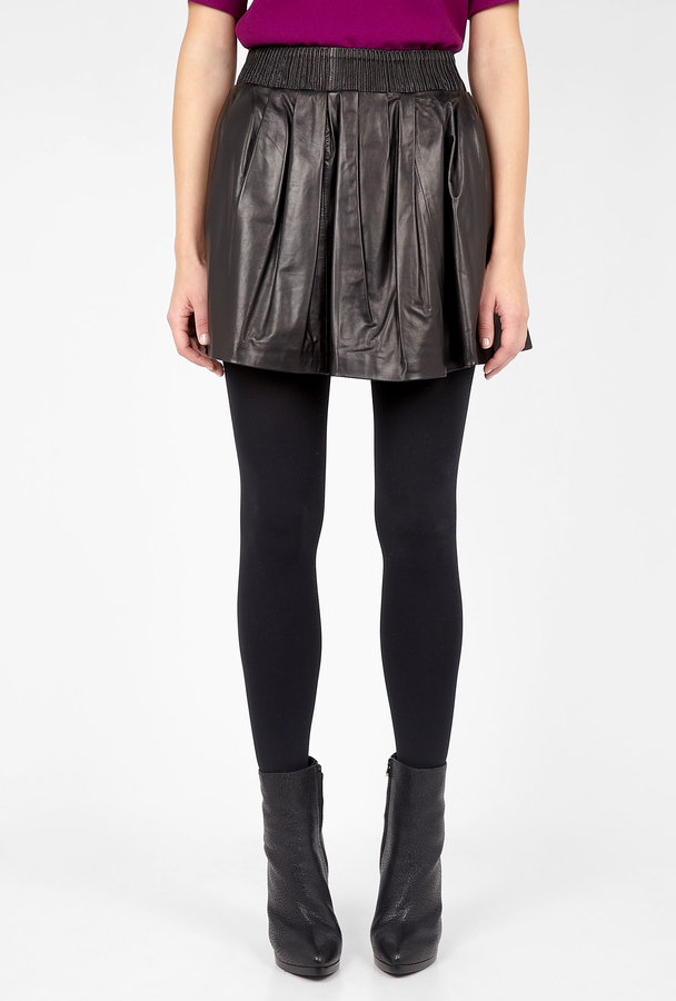 D&G Leather Circle Skirt