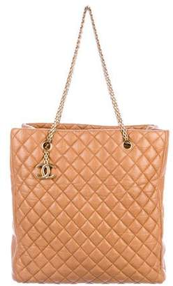 Chanel Aged Calfskin Quilted Tote