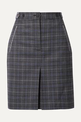 Rag & Bone Meki Checked Wool-blend Mini Skirt - Gray
