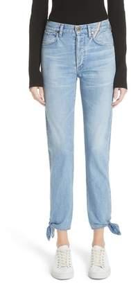 Jean Atelier Hunter Ankle Tie Crop Jeans