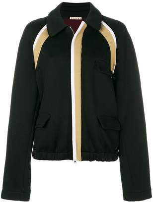Marni striped a-line jacket