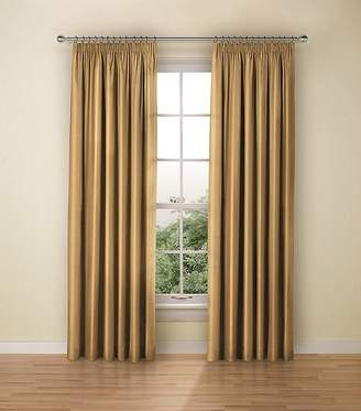 Marks and Spencer Faux Silk Black Out Pencil Pleat Curtains