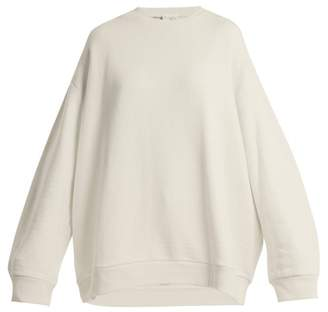 Raey Crew Neck Japanese Jersey Sweatshirt - Womens - Grey