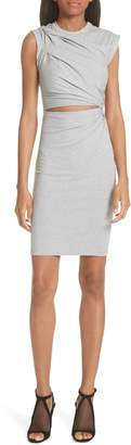 alexanderwang.t Keyhole Twist Compact Jersey Dress