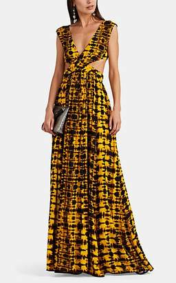 Proenza Schouler Women's Cutout Tie-Dyed Maxi Dress - Yellow