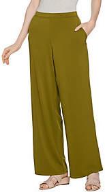 H by Halston Regular Jet Set Jersey Wide LegPull-on Pants