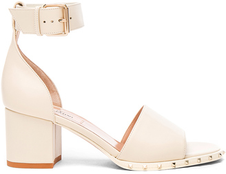 Valentino Leather Soul Rockstud Sandals $945 thestylecure.com