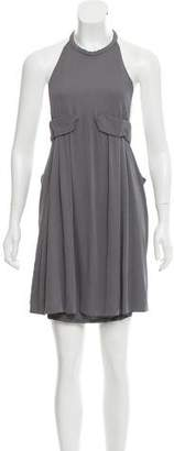 Halston Flounce Mini Dress w/ Tags