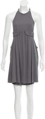 Halston Flounce Mini Dress w/ Tags