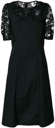 Comme des Garcons lace insert collared dress