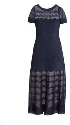 Alaia Cotillon Fit-&-Flare Boatneck Dress