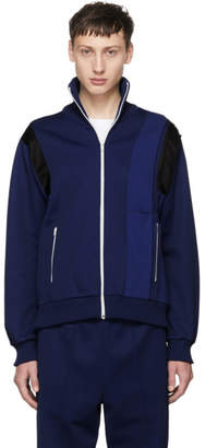 Maison Margiela Blue Panelled Track Jacket