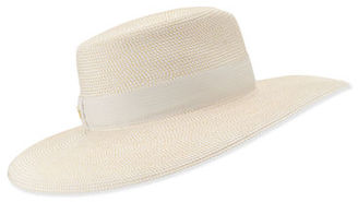 Eric Javits Daphne Woven Boater Hat $295 thestylecure.com