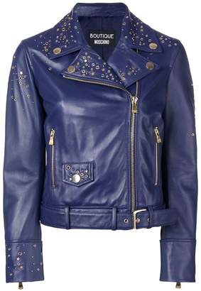 Moschino studded biker jacket