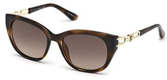 GUESS Women's Gu7562 Square Sunglasses