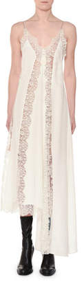 Stella McCartney Angie Marocaine V-Neck Sleeveless Silk Lace Cami Dress